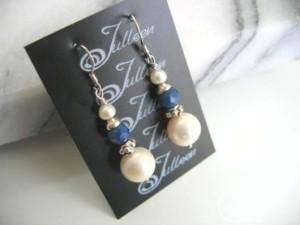 Amy Pearl Cluster Earrings-E047-82