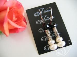 Bella Pearl Cluster Earrings-E067-02