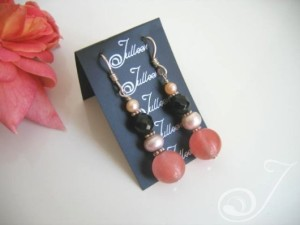 Cherry Pop Stick Pearl Cluster Earrings E037-29