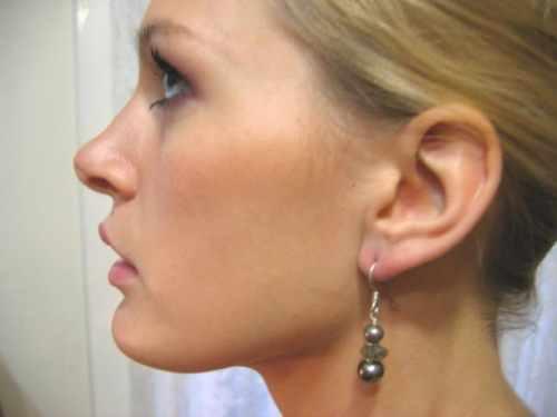 Brown Drop Pearl Earring Labradorite