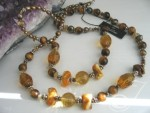 Inara Gold Pearl Necklace VO402-03