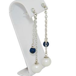 pearl dropearring lapis