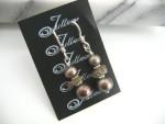 Sigourney Pearl Cluster Earrings E027-113