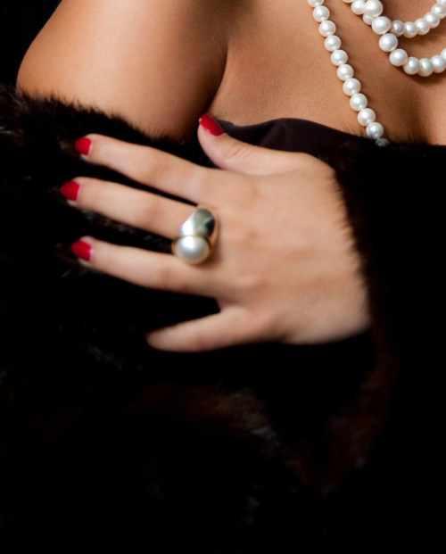 White Mabe Pearl Ring
