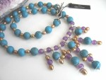 Athena Pearl Turquoise Necklace ND039-01