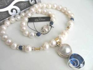 Blue Heaven Mabe Topaz Necklace JD114
