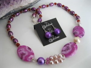 Josie Fuschia Stones Set JD0223-SET