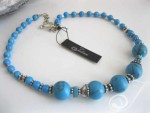 Mykonos Blue Turquoise Necklace VO407