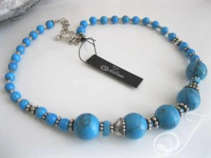 Mykonos Blue Turquoise Necklace VO407