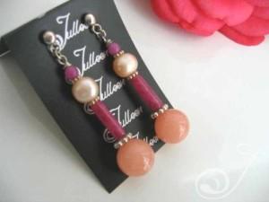 Pink Flamingo Pink Pearl Earrings E026-28
