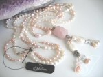Spring Rose Pink Pearl Necklace JD247-01A