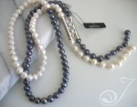 Tiger Blue & White Pearl Necklace PL0001P
