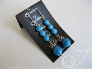 Mykonos Blue Turquoise Drop Earrings E037.44