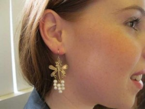 PEARL BUTTERFLY EARRINGS