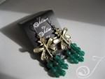 Emerald Green Agate Cluster Earrings E100.01
