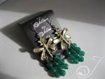 Emerald Green Agate Cluster Earrings E100.01
