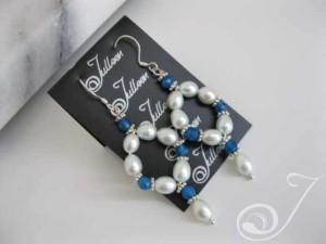 Blue Bijou Loop Earring E039.14