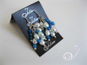 Blue-Cluster-Pearl-Earring-E076.05
