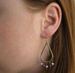 Gypsy Rose Pearl Hoop Earring