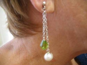 Green Earring Model