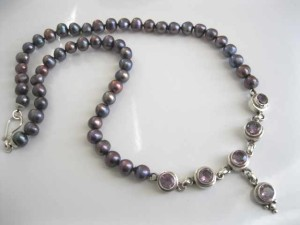 Black Pearl and Amethyst