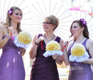 Mauve theme bridesmaids